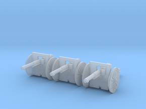 1/160 75mm French cannon m1897 in Smoothest Fine Detail Plastic