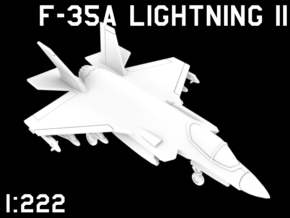 1:222 Scale F-35A Lightning II (Loaded, Deployed) in White Natural Versatile Plastic
