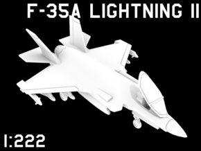 1:222 Scale F-35A Lightning II (Loaded, Stored) in White Natural Versatile Plastic