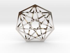 7D Hypercube Pendant in Platinum