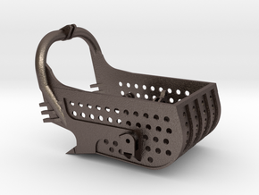 dragline bucket 10cuyd, with holes - scale 1/50 in Polished Bronzed-Silver Steel