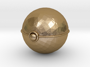 Pokeball (small) in Polished Gold Steel