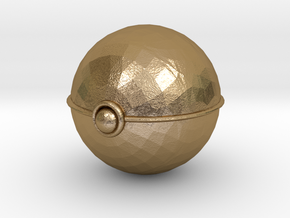 Pokeball (big) in Polished Gold Steel