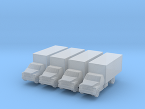 Ford F600 Cargo (x4) 1/350 in Smooth Fine Detail Plastic