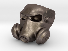 Gas Mask Skull Ring (Size 9 US) in Polished Bronzed-Silver Steel: 9 / 59