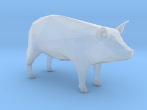 Plastic Pig 1:48-O in Smooth Fine Detail Plastic