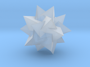 Compound of Five Tetrahedra - 10 mm in Smooth Fine Detail Plastic