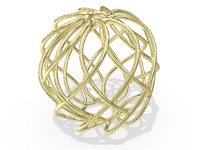 Christmas Ornament 2015_004 in 18K Yellow Gold