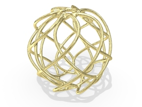 Christmas Ornament 2015_007 in 18K Yellow Gold