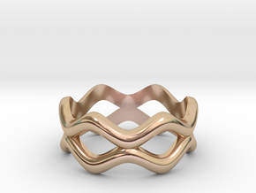 Weave Band in 14k Rose Gold