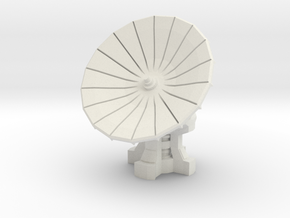 28mm Scale Com-Satellite Array in White Natural Versatile Plastic