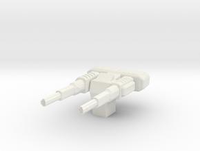 Particle Beam Accelerator Turret in White Natural Versatile Plastic