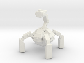 Spider-Mech Robot in White Natural Versatile Plastic
