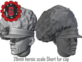 28mm Heroic scale short feather bonnet in Smooth Fine Detail Plastic: Small