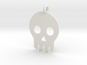 Skull necklace charm in White Natural Versatile Plastic
