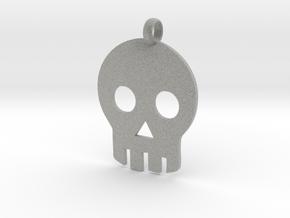 Skull necklace charm in Metallic Plastic