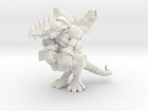 Space Lizard in White Natural Versatile Plastic
