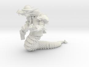 Snakeman in White Natural Versatile Plastic