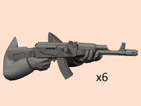 28mm AK74 arms in Smoothest Fine Detail Plastic