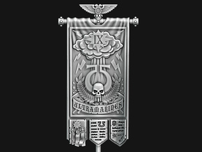 UM 9th Company Banner - The Storm Bringers in Smooth Fine Detail Plastic: Medium