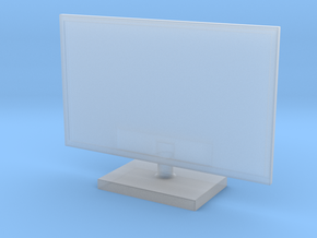 """1:87 (HO SCALE) 32"""" LED TV FLAT SCREEN (V1.5) in Smooth Fine Detail Plastic"""