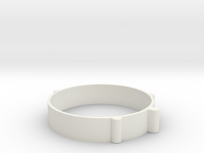 Rondelle22mm in White Natural Versatile Plastic