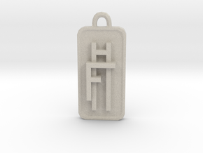 Fly High Tall Pendant 1cm in Natural Sandstone
