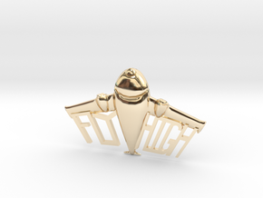 FLYHIGH: Plane Necklace 4inch in 14K Yellow Gold