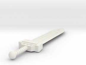 Master Blade of the Empyrean (Solid version) motuC in White Natural Versatile Plastic