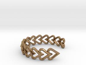 FLYHIGH: Open Heart Vertical Bracelet in Natural Brass