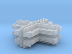 Modern Corner Sofa (x8) 1/285 in Smooth Fine Detail Plastic