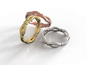 Knots Band Ring in 18k Gold Plated Brass: 7 / 54