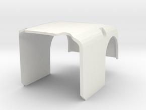 DARwIn-OP upper arm in White Natural Versatile Plastic