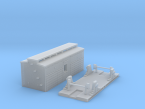 VR N Scale F/FF Horse Box (4 Wheel) in Smooth Fine Detail Plastic