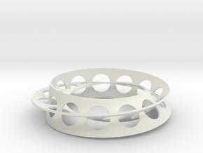 Golden Ratio Moebius Double Strip in White Strong & Flexible