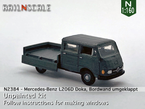 Mercedes-Benz L206D Doka (N 1:160) in Smooth Fine Detail Plastic
