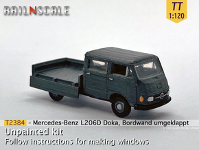 Mercedes-Benz L206D Doka (TT 1:120) in Smooth Fine Detail Plastic