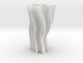 Vase 1250 in White Natural Versatile Plastic