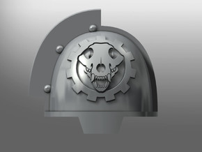 Grievous ptrn S Pads: Wolven Gears in Smooth Fine Detail Plastic: Small