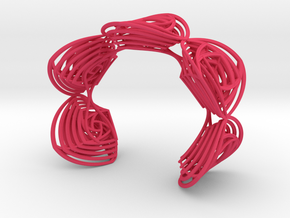 Rose Stripes Bracelet in Pink Strong & Flexible Polished
