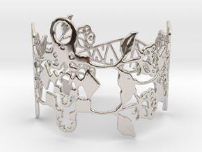 Roses Bracelet in Platinum