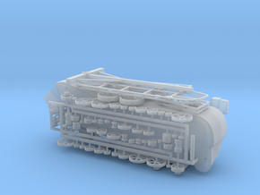 REVISED! Grain Thresher Kit 87 76 72 64 48 43.5 in Smooth Fine Detail Plastic: 1:87 - HO