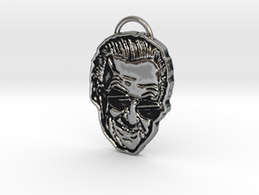 Stan Lee Pendant Necklace Face Excelsior in Antique Silver