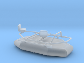 1/64 Fishing Raft in Smooth Fine Detail Plastic