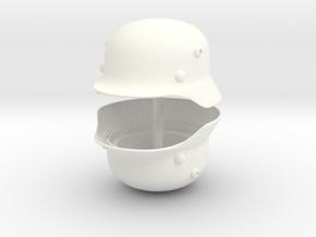 WW2 German Helmet For Playmobil x2 in White Processed Versatile Plastic