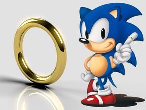Sonic Ring in 18k Gold Plated Brass: 10 / 61.5