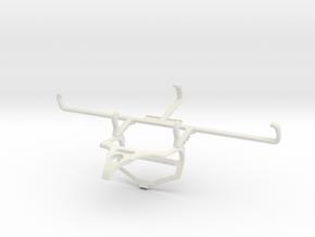 Controller mount for PS4 & Nokia 2720 V Flip - Fro in White Natural Versatile Plastic