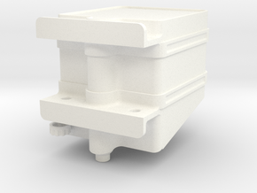 Lama Hydraulic Oil Tank in White Processed Versatile Plastic