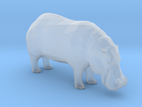 Plastic Hippopotamus v1 1:48-O in Smooth Fine Detail Plastic