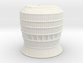 Komusō Tengai Basket Helmet for Motu Origins in White Natural Versatile Plastic